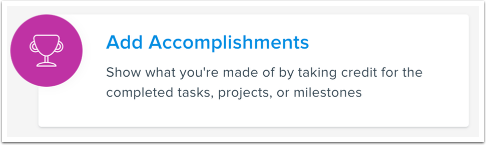 Add Accomplishments