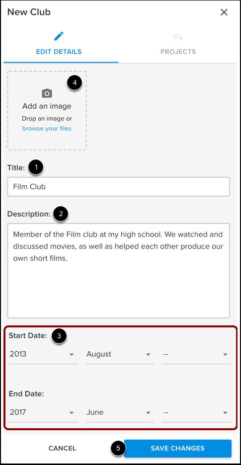 Add Club Details