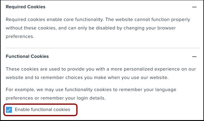 Edit Cookie Settings