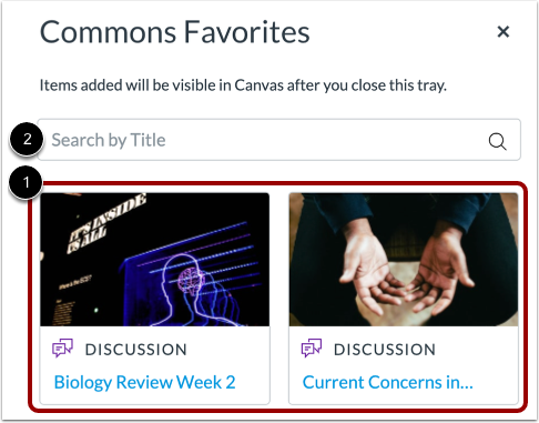 View Commons Favorites