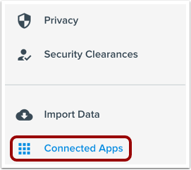 Open Connected Apps