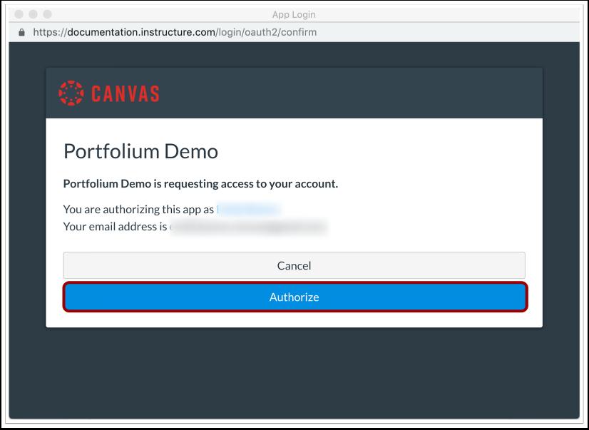 Authorize Canvas
