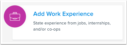 Add Work Experience