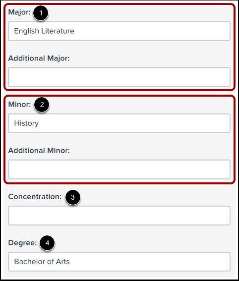 Add Education Information