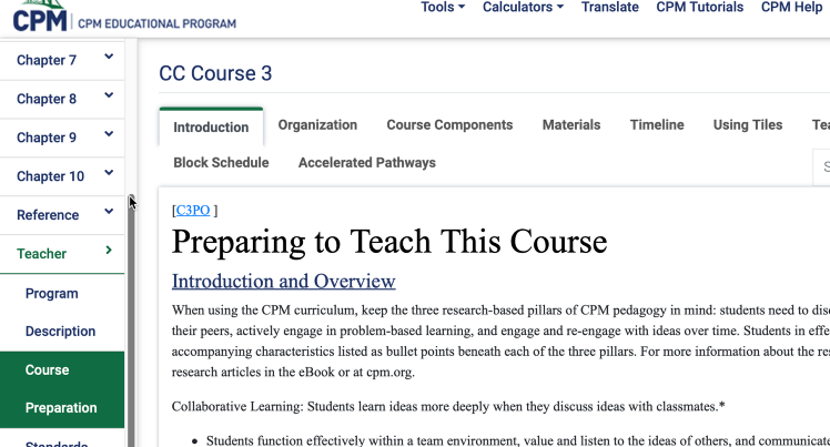 Course Preparation