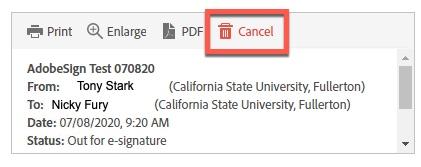 Box highlighting Cancel button