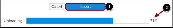 Cursus importeren