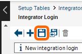 Save the Integrator login.