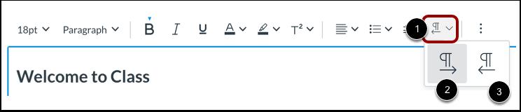 Alinear dirección del texto