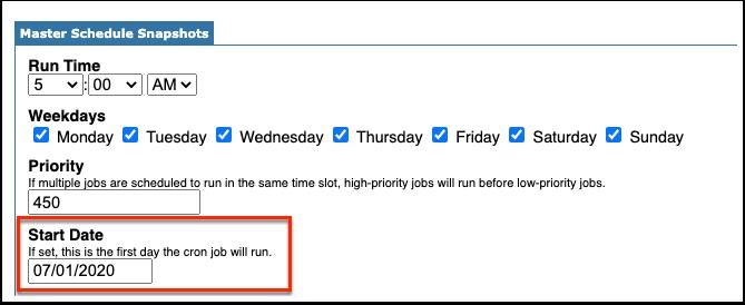 Scheduled Jobs