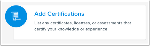 Add Certifications