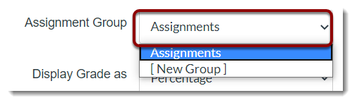 Assignment Group dropdown selected