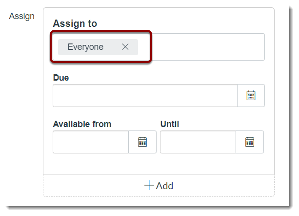 Assign to field is selected
