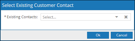 From the drop down associate an existing contact