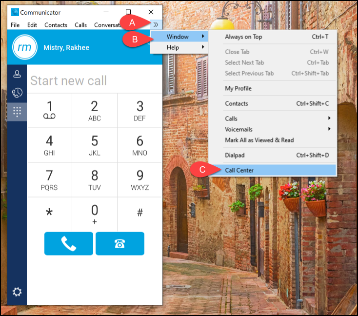 call center option