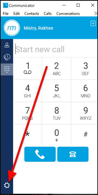 Communicator dial screen