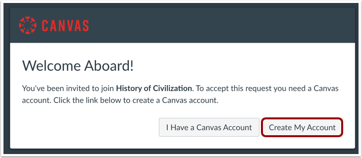Create Canvas Account