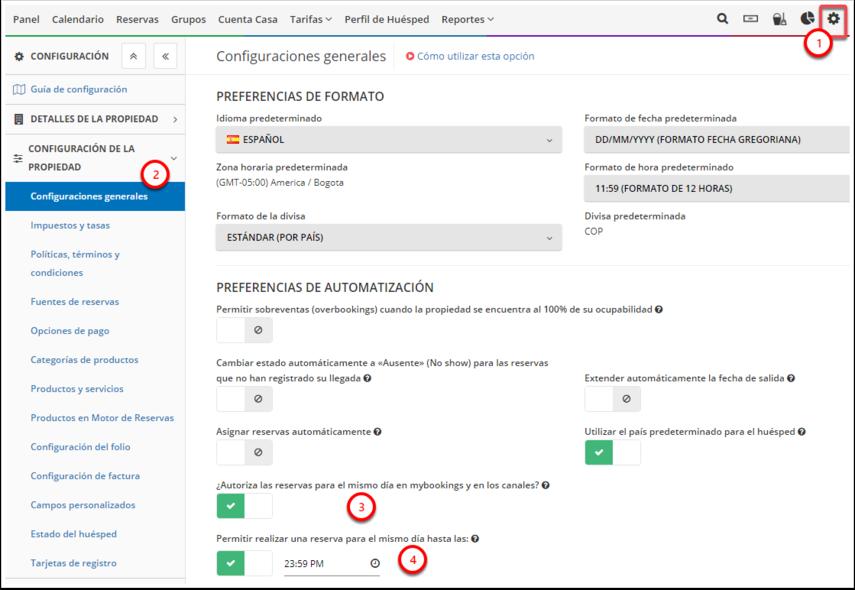 DEMO - El Bolsón - Configuraciones generales - Google Chrome