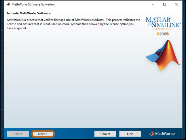 activate mathworks software