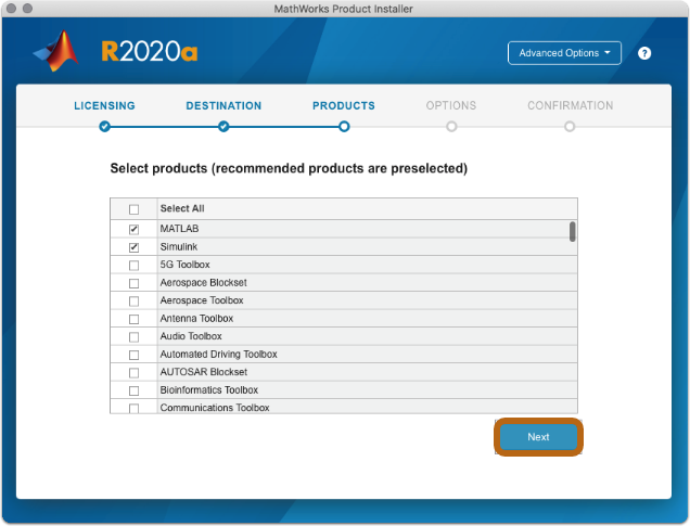 select additional products