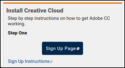 Step One - Sign up for your Adobe Creative Cloud Subscription