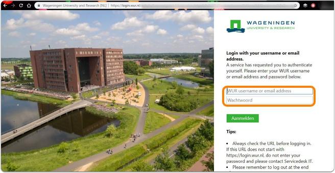 Brightspace login page