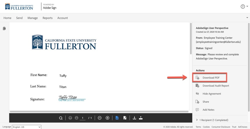 Arrow pointing to  Download PDF link