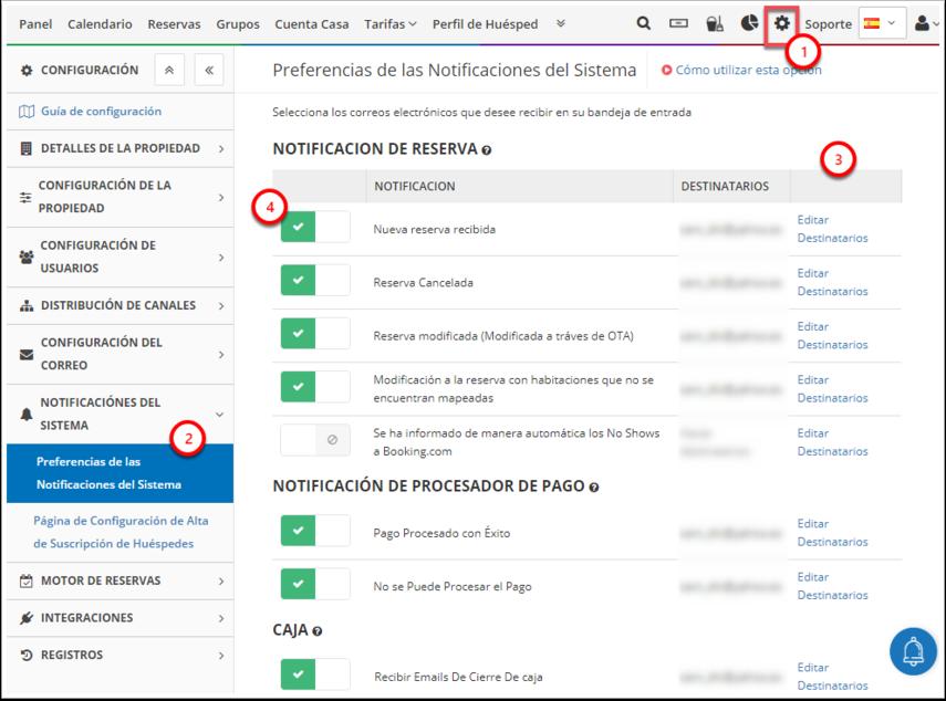 DEMO - El Bolsón - Preferencias de las Notificaciones del Sistema - Google Chrome