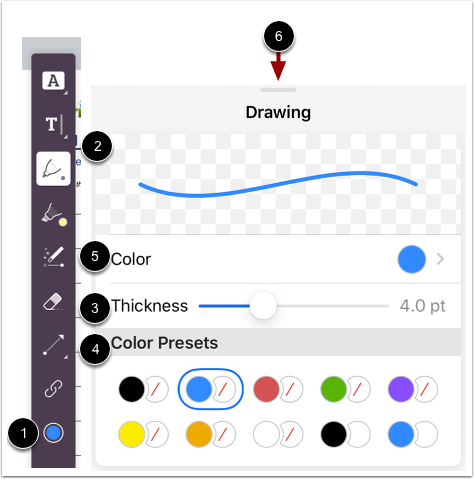 Select Pen Formatting