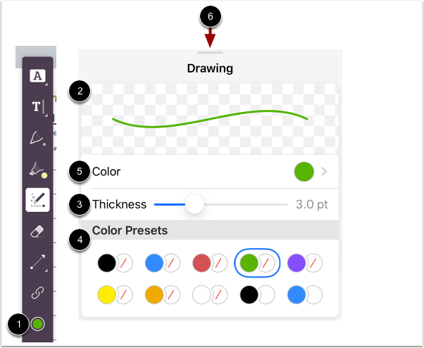 Select Free-Draw Formatting