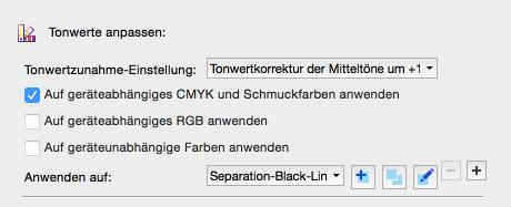 Tonwertkorrektur-Konfiguration: Neue Tonwertanpassung auswählen