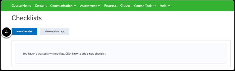 Click New Checklist