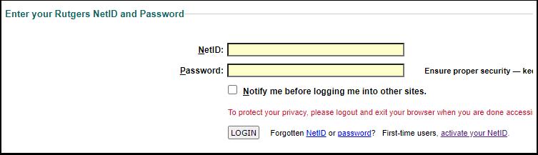 Rutgers Central Authentication Service (CAS) - Google Chrome