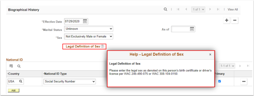 Legal Definition of Sex