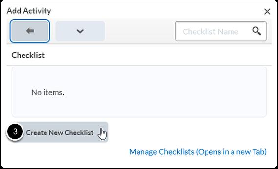 Click Create New Checklist