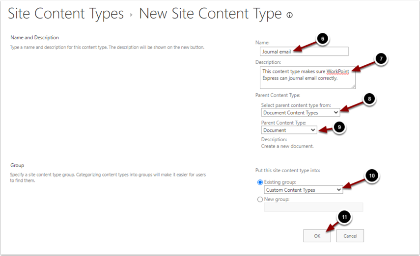 New Site Content Type - Google Chrome