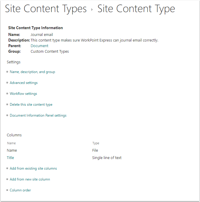 Content Type - Google Chrome