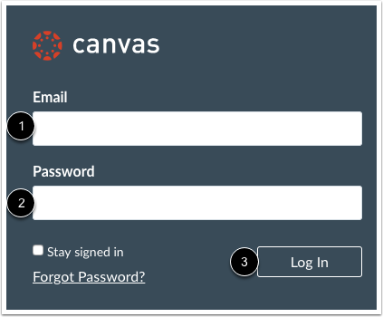 Log into your Canvas Account
