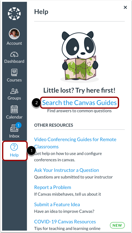 Search the Canvas Guides