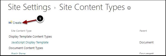 Site Content Types - Google Chrome