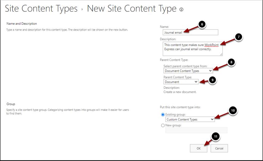 New Site Content Type - Google Chrome