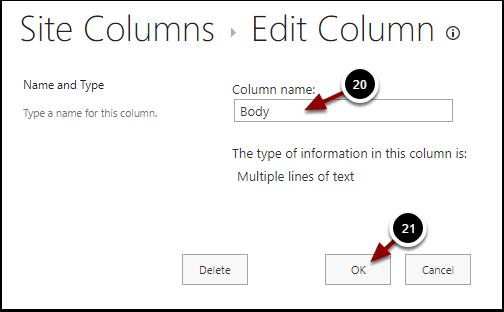 Change Column - Google Chrome