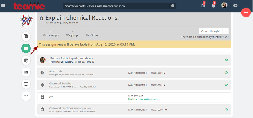 (2) Materials | Chemistry | Teamie Next - Google Chrome