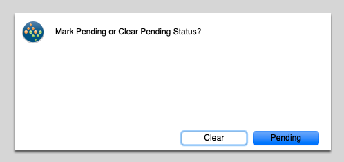 mark pending or clear?