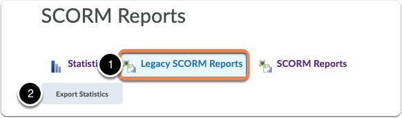 Course content statistics - SCORM Report - Legacy