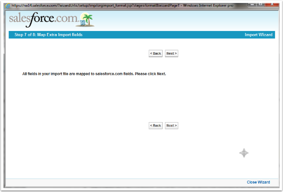 Step 7 of 8: Map Extra Import fields