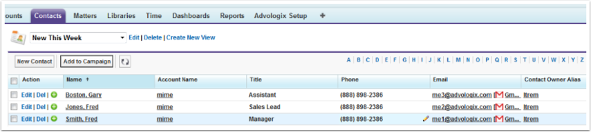 Navigate to 'New This Week' list view on Contact tab or Account TAB to confirm import.