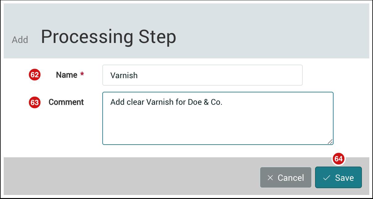 Add Processing Step