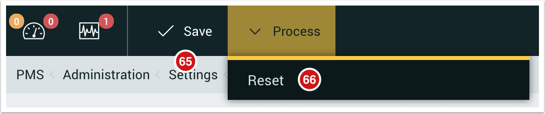 Save and Reset settings