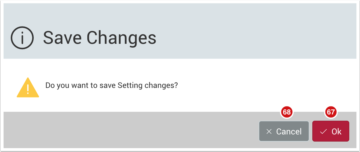 Save Changes dialog